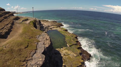 Cliff to Ocean Flight Stock Footage