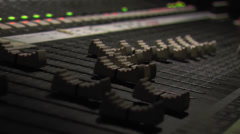 Audio Board Faders 2 Stock Footage