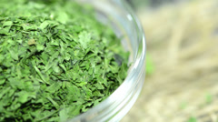 Portion of parsley (not loopable) Stock Footage