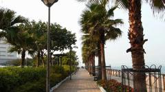 Promenade walkway Central Financial district Hong Kong China Asia Stock Footage
