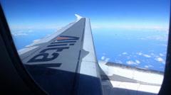 Window View Plane - stock footage