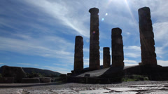 Awesome Ancient Pillars Stock Footage