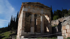 Beautiful Ancient Greek Architecture Stock Footage