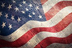 american flag grunge - stock photo