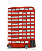 English bus Stock Illustration