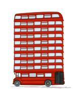 english bus - stock illustration