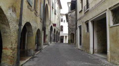Streets of old town Asolo, Italy Stock Footage