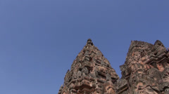 The Khmer temple at Phanom Rung Historical Park - 38 Stock Footage