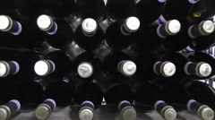 Bottles in winery Stock Footage