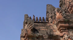 The Khmer temple at Phanom Rung Historical Park - 37 Stock Footage