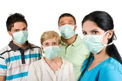 Protection from flu - stock photo