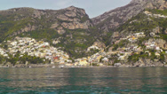 Stock Video Footage of Sailing along Amalfi coast.
