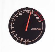 Isolated motor tachometer Stock Photos