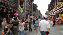 Crowds in the Tianjin ancient cultural street,Tianjin, china. Stock Footage