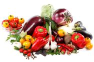 Stock Photo of healthy food. fresh vegetables on a white background.