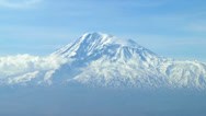 Stock Video Footage of Timelapse of the snowcapped legendary Ararat mountain, symbol of Armenia