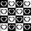 Stock Illustration of chess hearts seamless background or pattern black and white