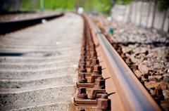 Railway track lines Stock Photos