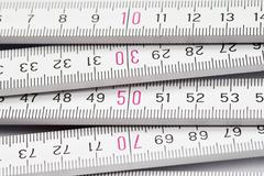 folding meter rule - stock photo
