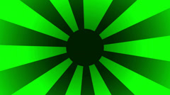 Green rising sun spinning HD Stock Footage