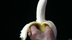 Peeling a banana Stock Footage