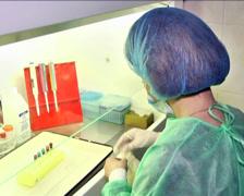 Lab Technician in Laboratory 1 Stock Footage