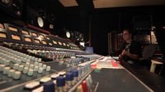 Recording Studio Bass player slapping  18 Stock Footage