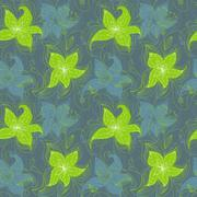 Stock Illustration of seamless floral pattern