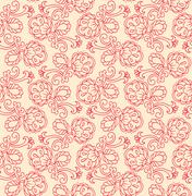 seamless floral pattern - stock illustration