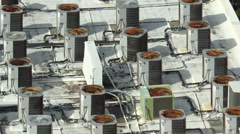 Rooftop Air Conditioning Units Stock Footage