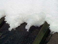 The snow melts. Time Lapse . 4x3 - stock footage
