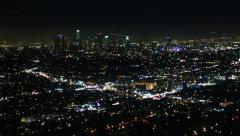 4K Los Angeles Night View 68 Timelapse Traffic Stock Footage