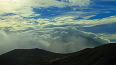 Clouds over summit of Teide mountain_4K 4096x2304 Stock Footage
