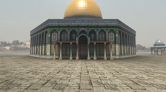 Animation of Dome of the Rock in Jerusalem - stock footage