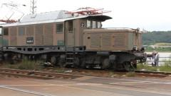 Crocodile Train passing by Stock Footage