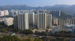Hong Kong public housing high-rise apartment China Asia Stock Footage