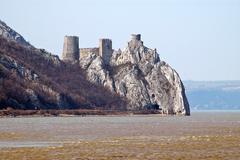 golubac fortress, serbia - stock photo