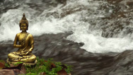 Stock Video Footage of Buddha am Wasser