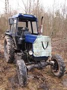 Old wheel tractor soviet production Stock Photos