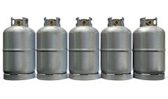 gas cylinder row - stock illustration