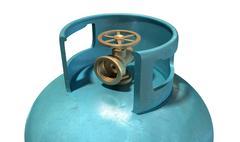 gas cylinder valve closeup - stock illustration