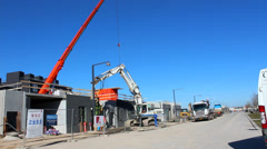 Building site and crane Stock Footage