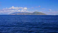Stock Video Footage of Seascape with far coast of Campania.