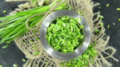 chive (not loopable) - stock footage