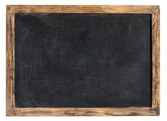 vintage blackboard or school slate - stock photo