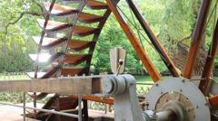 Bad Kreuznach - Water whell (wasserrad) Stock Footage