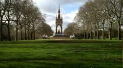 Albert memorial, London - stock footage