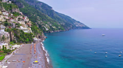 Beautiful coastal village Positano, Amalfi coast, Italy. Stock Footage