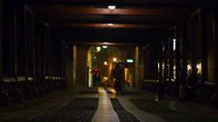 Rainy night in Bassano del Grappa Stock Footage