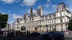 Paris City Hall Stock Footage